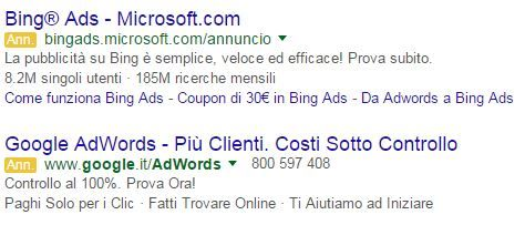mispelling parole chiave adwords